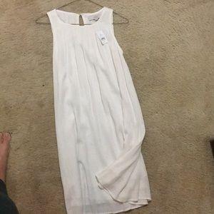 Loft white linen dress